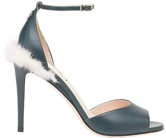 Fendi fur detail sandals