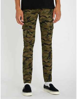 PROFOUND AESTHETIC Camouflage-print slim-fit cotton-blend jeans