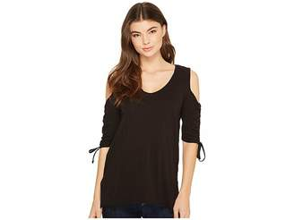 LAmade Rosa Cold Shoulder Top Women's Clothing