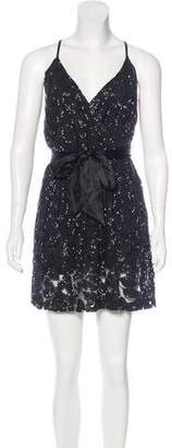 Halston Embellished Lace Dress