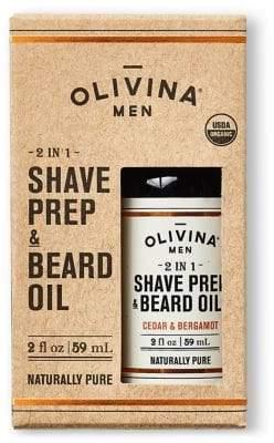 Olivina Cedar and Bergamot Shave Prep and Beard Oil