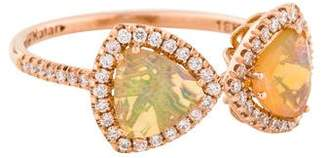 Suzanne Kalan 18K Opal & Diamond Bow Ring