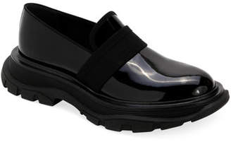 Alexander McQueen Men's Leather Thick Rubber Sole Dress Shoe