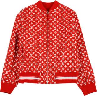 Louis Vuitton Leather Blouson - 'Louis Vuitton X Supreme' - Red