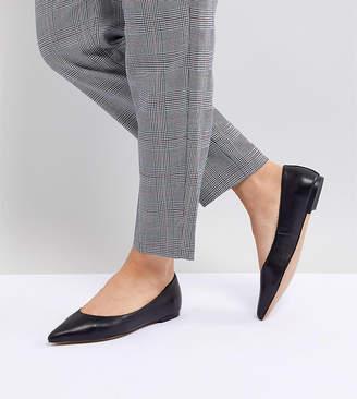 Ladybird ASOS DESIGN Leather Ballet Flats