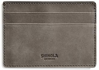 Shinola Outrigger ID Leather Card Case