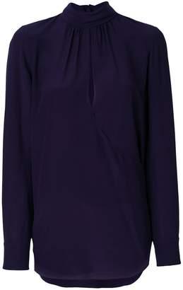 Chloé keyhole fluid blouse