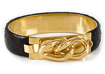 Vita Large Leather Snake Bracelets -