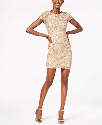 Adrianna Papell Petite Sequin-Embellished Sheath Dress