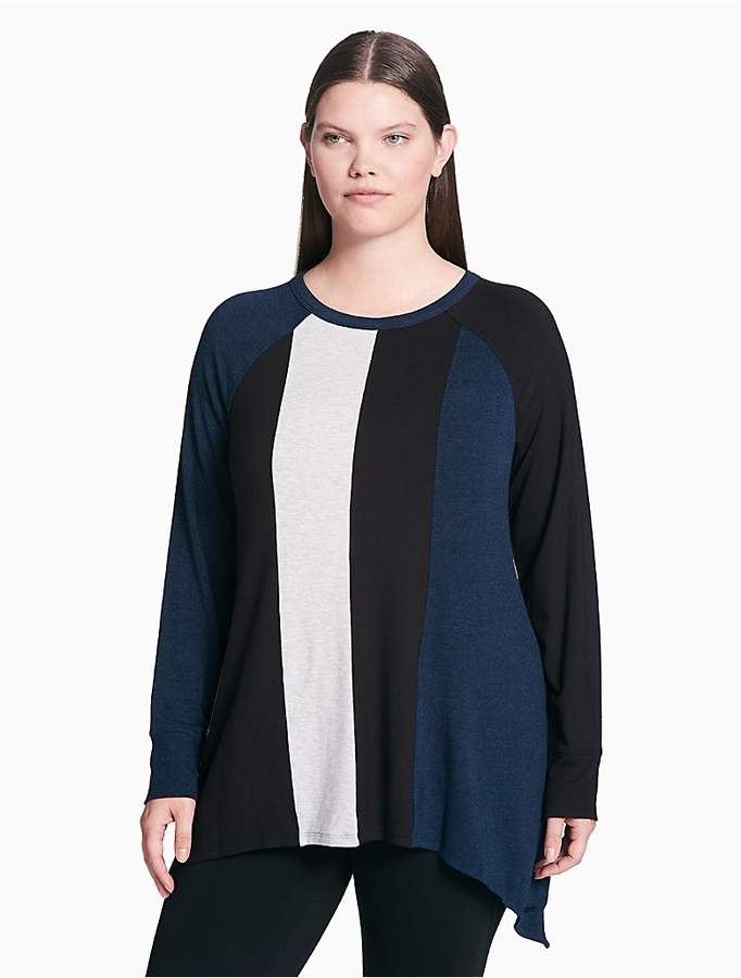 Plus Size Performance Colorblock Raglan Top