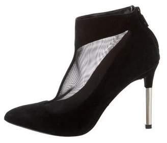Pour La Victoire Suede & Mesh Ankle Boots