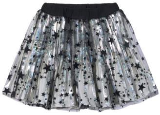 Paper Wings Black Stars Metallic Skirt
