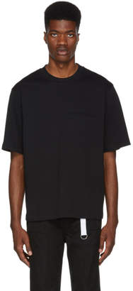 Helmut Lang Black Stitched Pocket T-Shirt