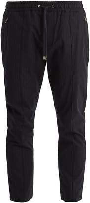 Dolce & Gabbana Pinstriped cotton-blend track pants