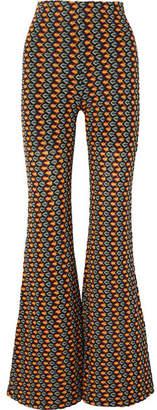 Beaufille - Ruminia Crochet-knit Flared Pants - Orange