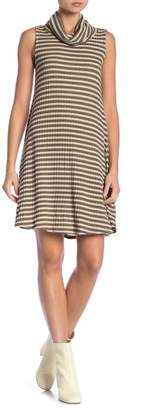 Abound Sleeveless Cowl Neck Stripe Dress