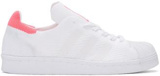 adidas Originals White & Pink Superstar 80's PK Sneakers $120 thestylecure.com