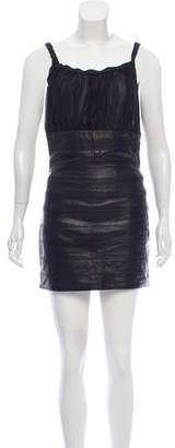 DSQUARED2 Leather Paneled Dress