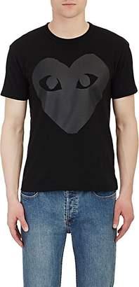 Comme des Garcons Men's Heart Cotton T-Shirt - Black
