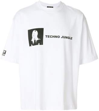Helmut Lang Techno Jungle print oversized T-shirt