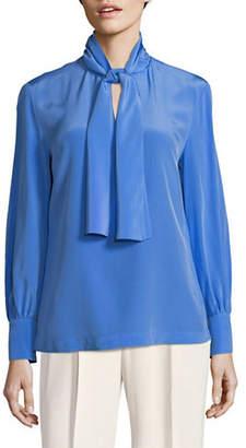 Diane von Furstenberg Tie Neck Silk Blouse