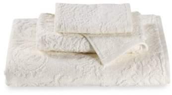 Riverside Damask Hand Towel in Oyster