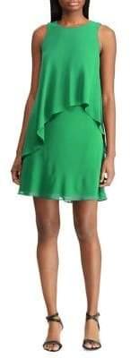 Lauren Ralph Lauren Georgette Sleeveless Shift Dress