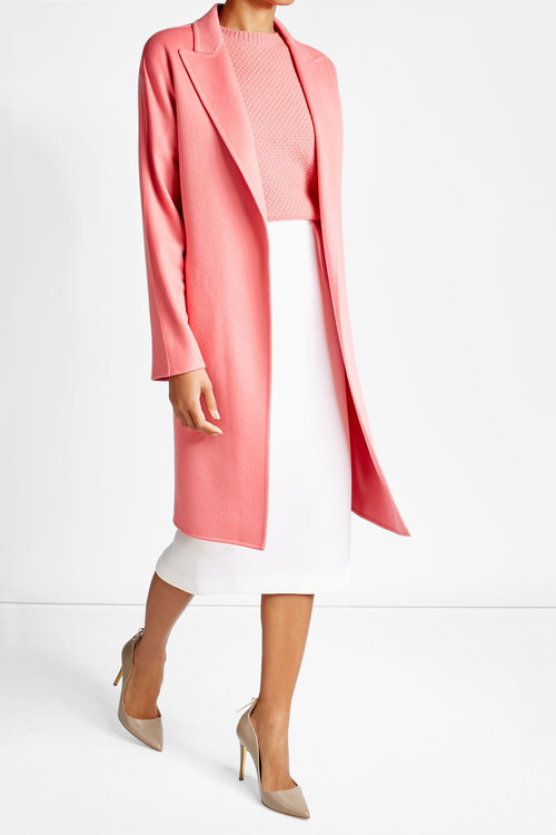 Max Mara Max Mara Belted Virgin Wool Coat