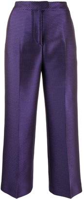 Pt01 micro pattern tailored trousers