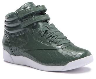 Reebok Freestyle Hi Crackle Patent Leather High Top Sneaker