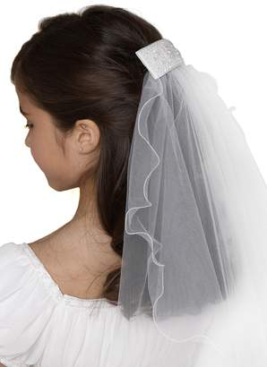 Us Angels Beaded Hair Clip with Veil