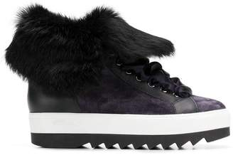 Högl fur lining platform boots