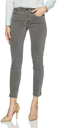 NYDJ Women's Ami Skinny Ankle in Twill with Fray Hem and Side Slit