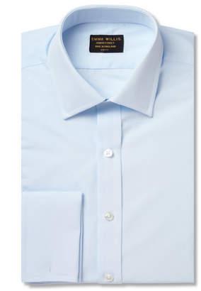 Emma Willis Blue Double-Cuff Cotton Shirt