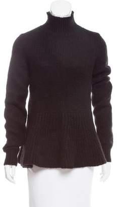 Derek Lam Turtleneck Flounce-Hem Sweater