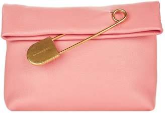 Burberry Medium Leather Pin Clutch Bag