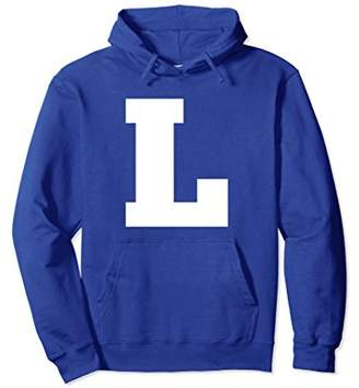 Uppercase L Alphabet Letters Spell Words Group Hoodie Shirt