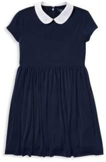Ralph Lauren Little Girl's& Girl's Peter Pan Collar Dress