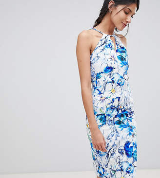 Paper Dolls Tall Sleeveless Printed Pencil Dress With Keyhole Detail