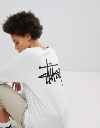 Stussy Oversized Long Sleeve T-Shirt With Large Logo