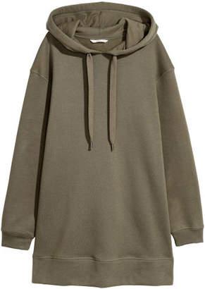 H&M Oversized Hooded Sweatshirt - Green