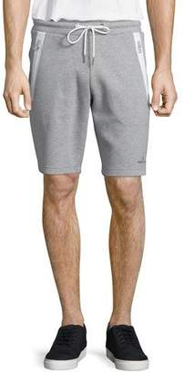 Moncler Zip-Pocket Knit Sweat Shorts, Gray $375 thestylecure.com