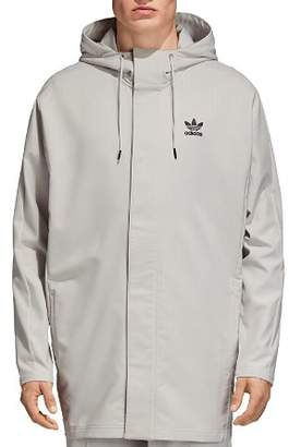 adidas Pinstripe Hooded Coach Jacket