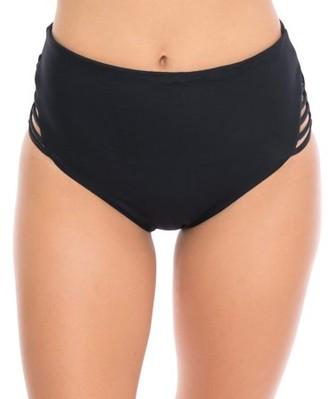 Moxi Blu Women's High-Waist Bikini Swimsuit Bottom