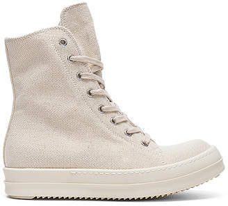 DRKSHDW by Rick Owens Vegan Sneakers in Cream $697 thestylecure.com