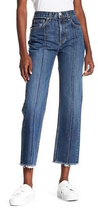 Rag & Bone Frayed Ankle Straight Leg Jeans