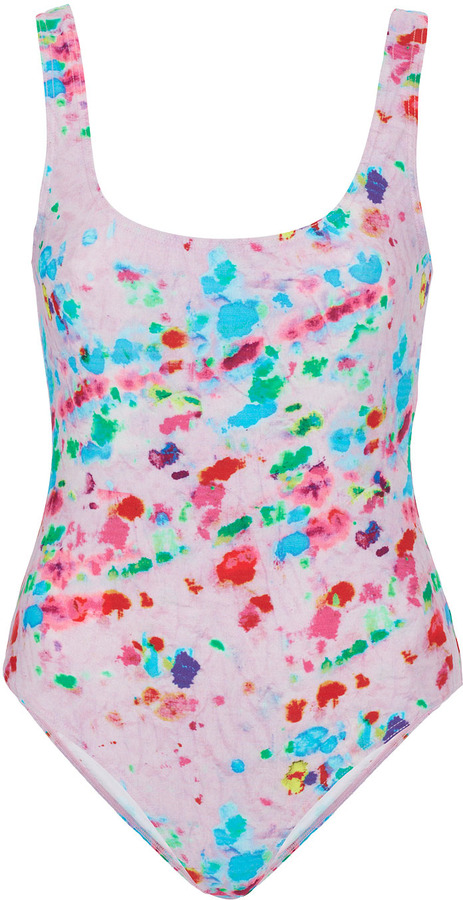 Topshop Petite Tie Dye Swimsuit