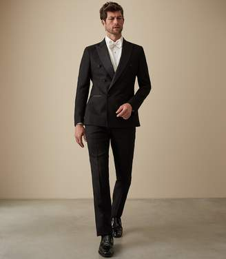 Reiss TITANIC DOUBLE BREASTED TUXEDO Black