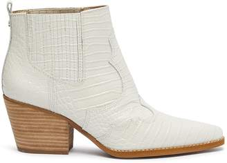 Sam Edelman 'Winona' panelled croc embossed leather ankle boots
