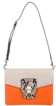 Dolce & Gabbana Python & Leather Lucia Shoulder Bag
